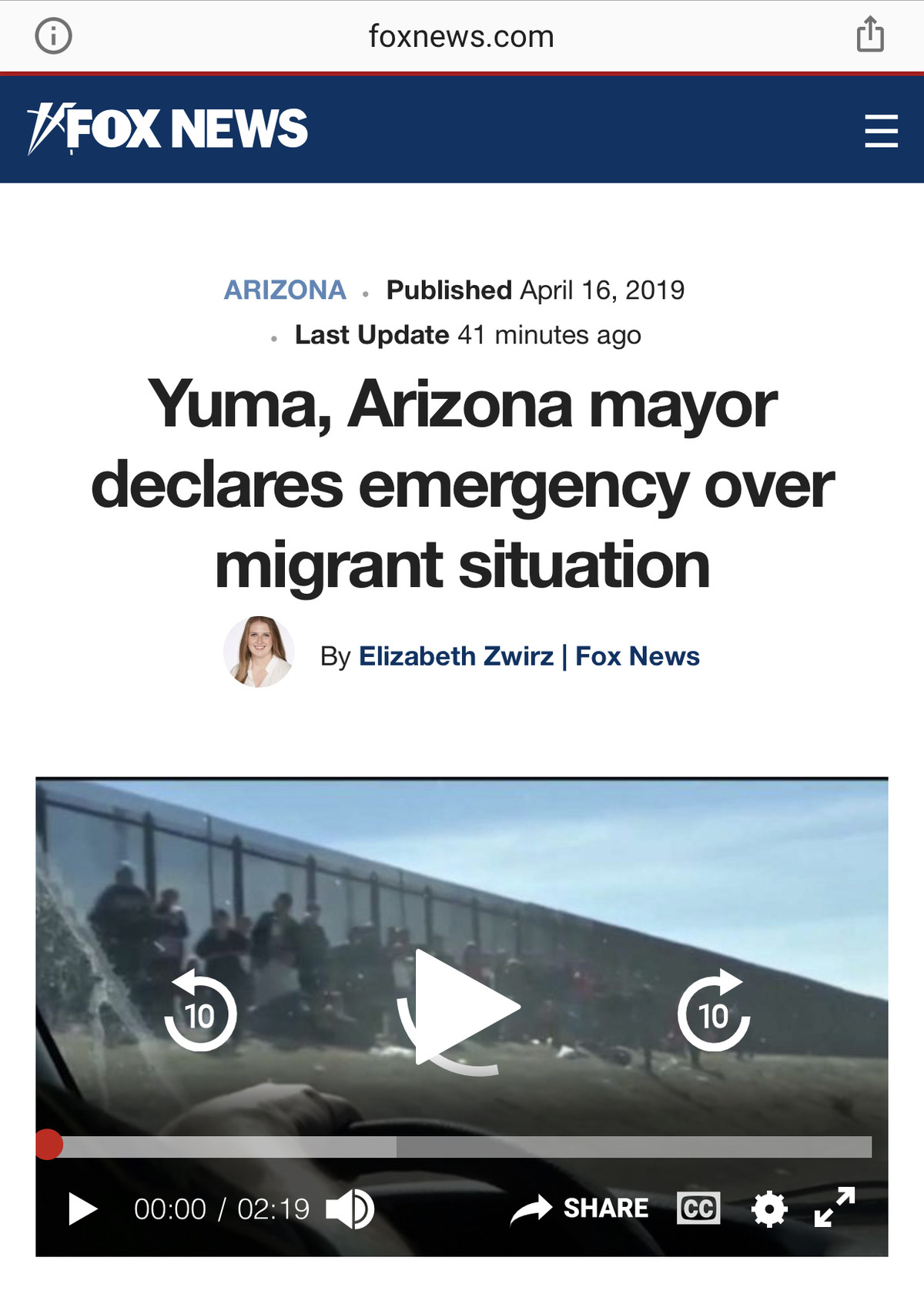 >not a crisis. .. Send in thousands of these . There won't be border issues anymore.