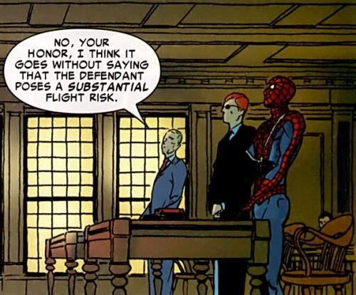 Not Now Spidey. .. Is his lawyer daredevil?