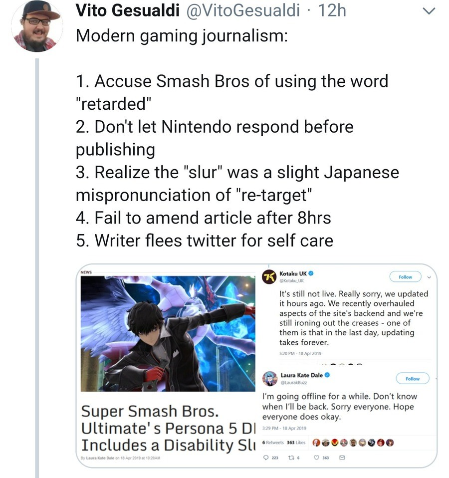 Oh gayme jurnalizm. join list: PersonaPosts (364 subs)Mention History.. at this point, video-game journalism is beyond salvation