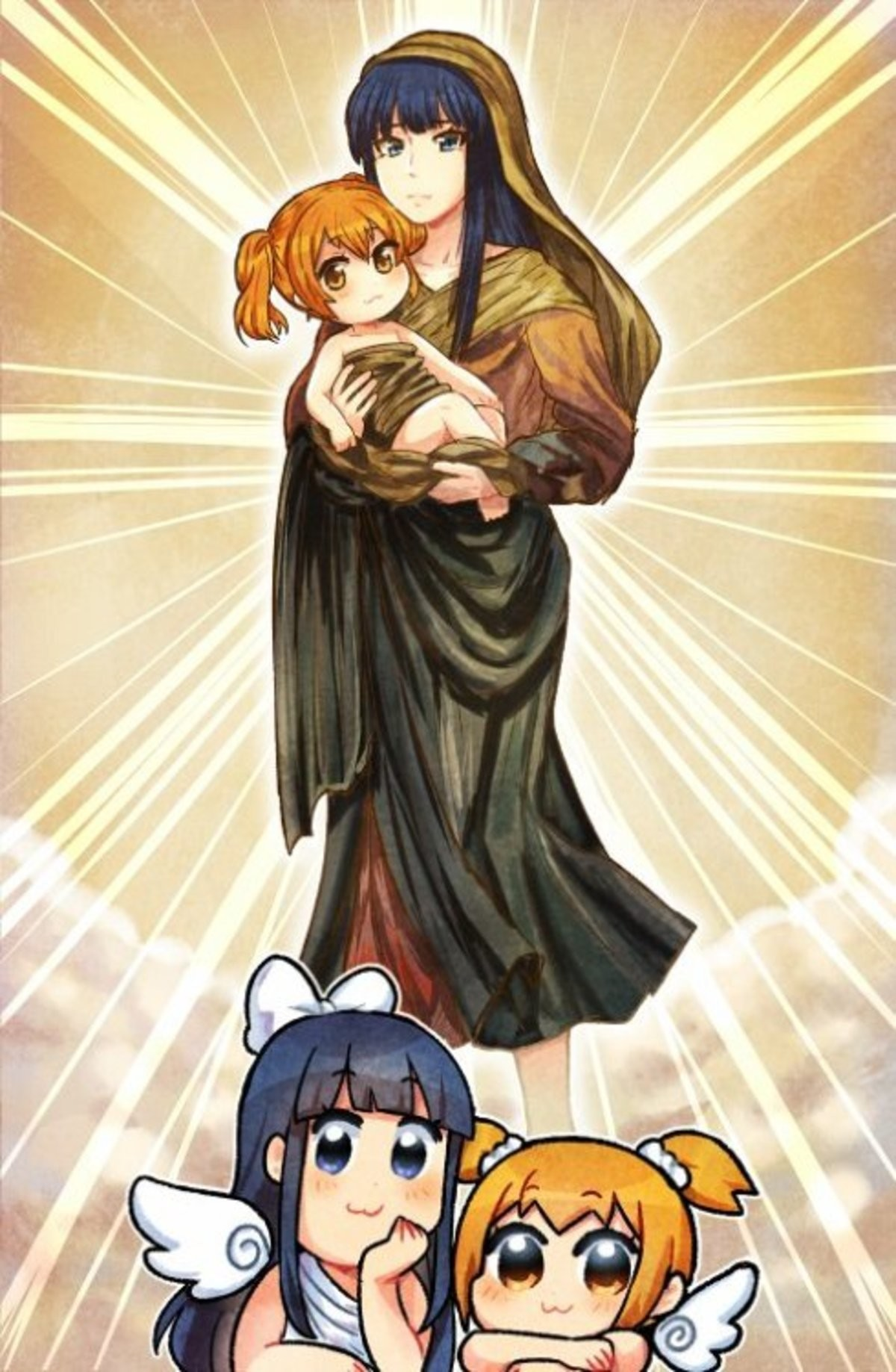 Oh My GOD !!. The Pop Team Epic gals by K009 Comics.
