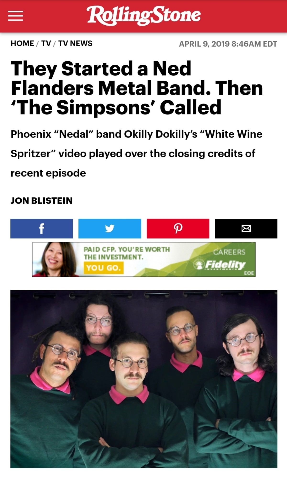 Okilly Dokilly. https://www.rollingstone.com/tv/tv-news/ned-flanders-metal-band-okilly-dokilly-the-simpsons-819321/.. at least post the video ya dingus