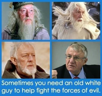 Old white guy. .. I agree.