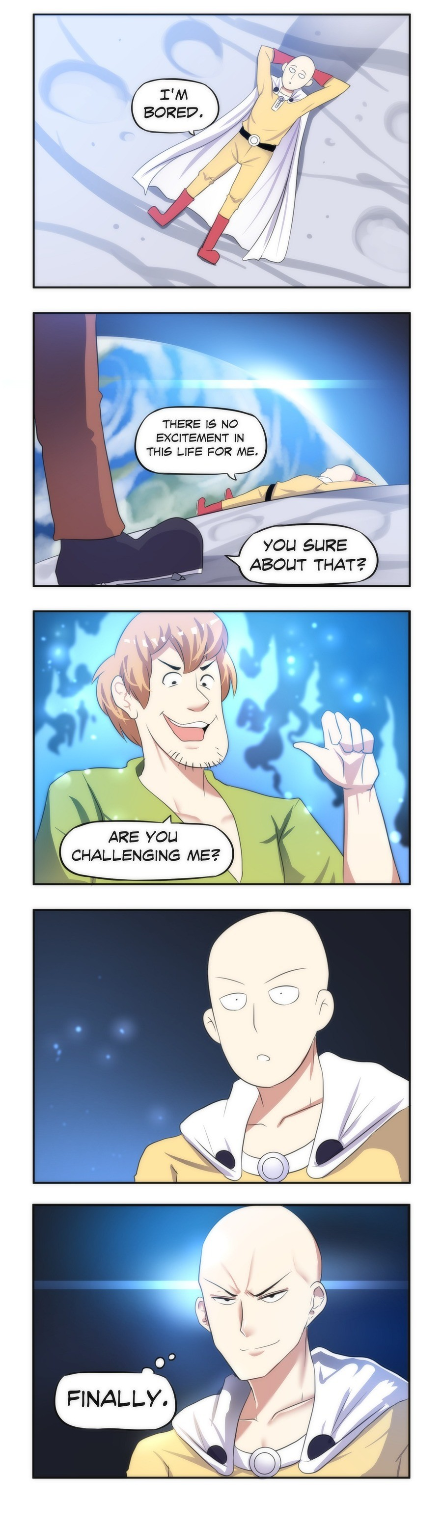 One Punch Man's Final Battle. join list: MerryweatherComics (3107 subs)Mention History.. >Both of them use 10% of their power >Universe implodes