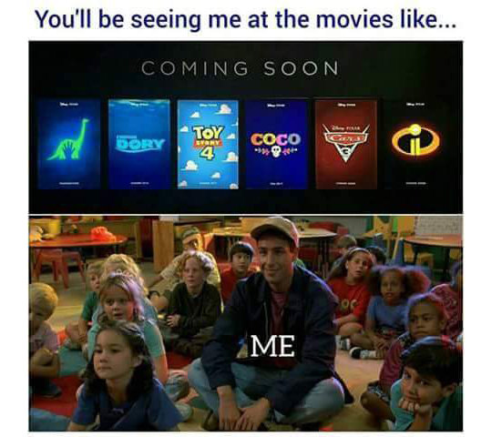 Our generation at the theatre. . You' ll be seeing me at the movies MMI.. Cars 3