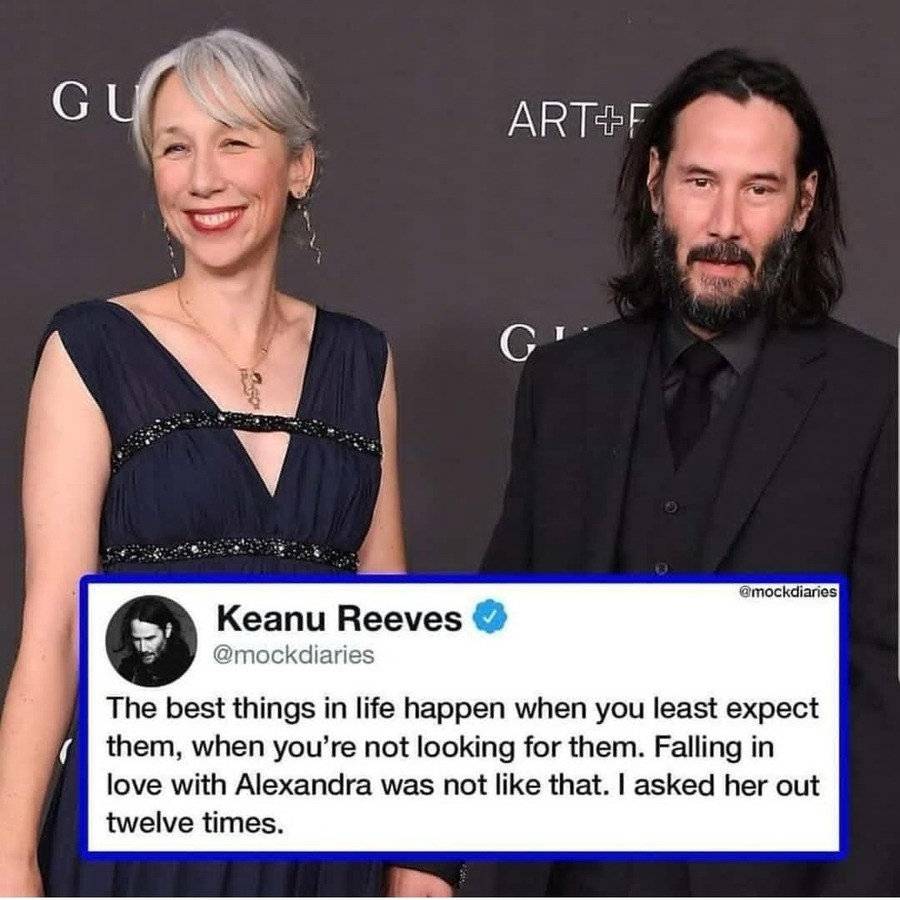 paltry first Bee. .. Leaked footage of Keanu asking her out for the 7th time