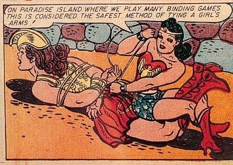 Paradise Island. .. The guy who created WW was a fetishist. WW was a kink comic.