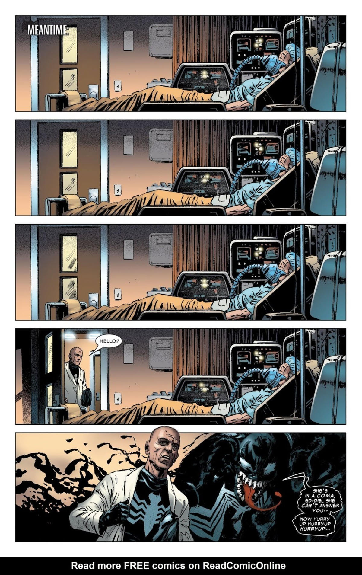 Pick your poison: Eddie Brock or Venom. Do you feel in charge? Eddie brutally murdered a nice nurse with a scalpel. Her coworkers thought they heard someone scr