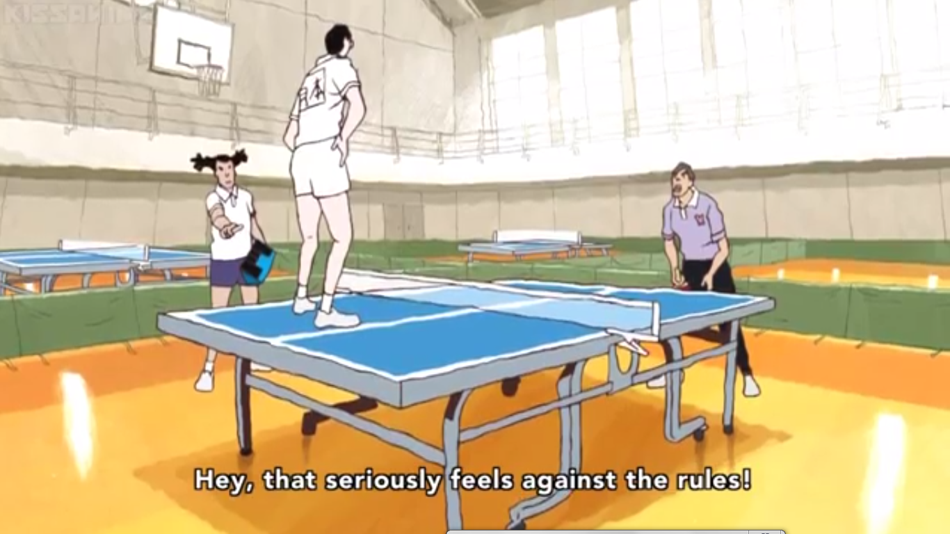 Ping Pong the Animation. Source is Ping Pong The Animation If you haven't pick it up, I recommend you to do so.. The animation sure looks weird, but I you not!!