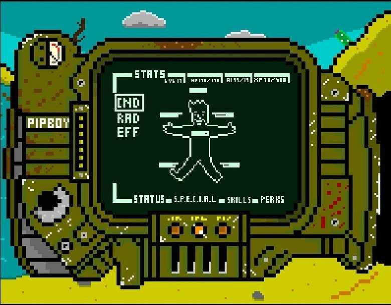 Pixel Fallout Art. Some Fallout pixel stuff I did last year.. ill ulfr II' I- FIJI} ill. Wow, fallout for xbox one is coming along nicely.