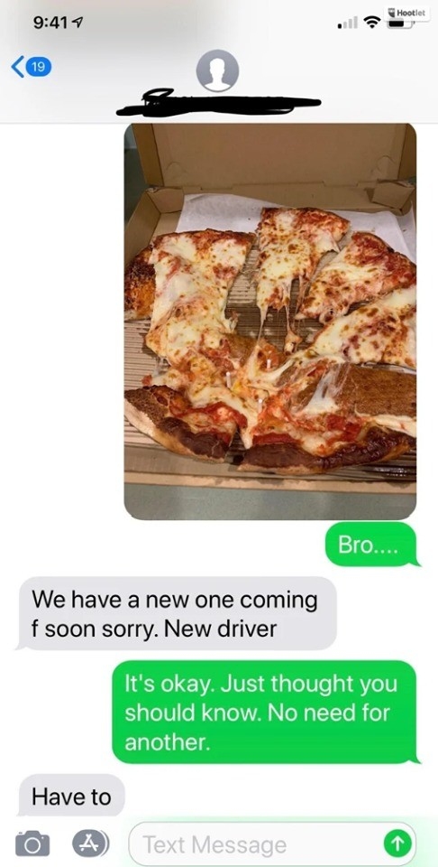Pizza Delivery Wholesome. .. Nice.