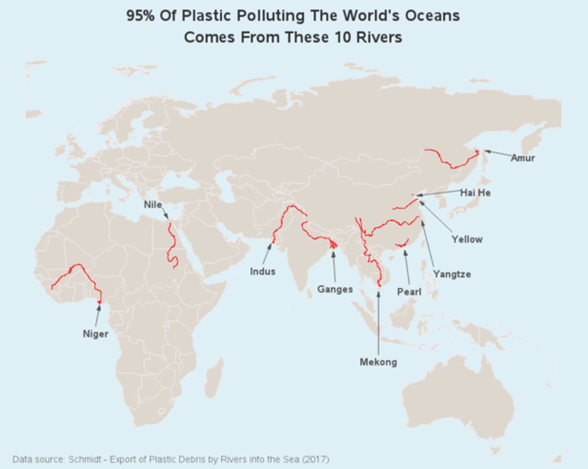 Plastic pollution. Guess it's still white peoples fault.. Once again, before jumping to racism, take a look around your room and tell me where the vast majority of your has been manufactured in. In the us? the europe?
