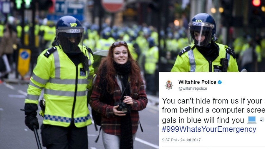 police department threatens to charge anyone mocking it online. https://.com/british-police-department-threatens-charge-anyone-mocking-online British police dep