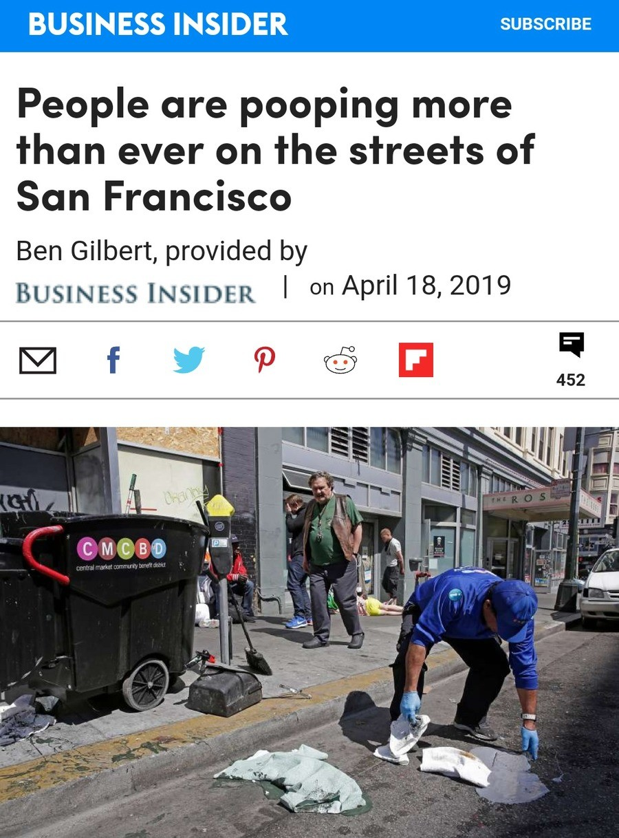 Poopy. https://m.sfgate.com/technology/businessinsider/article/People-are-pooping-more-than-ever-on-the-streets-13778680.php.. How dare this western utopia try to take our idea of D E S I G N A T E D S T R E E T S and not give us credit?