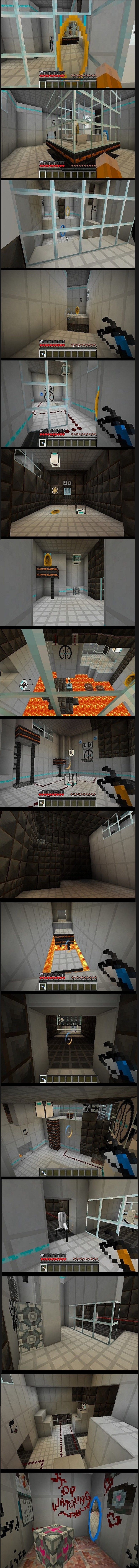 Portal Craft. Credit to emptygrave (Add & Sub if you want) The link has everything you want and need. (Except for Glados I think) planetminecraft.com/projec