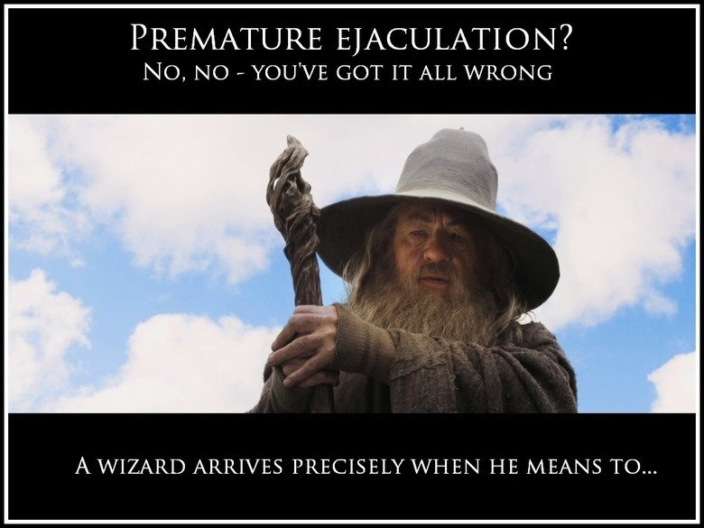 "Premature ejaculation is a lie. Not mine. A WIZARD ARIN'S PRECISELY 1/ "" HE MEANS TO..."