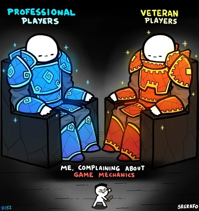 pro. .. to be fair by the time you become a pro or veteran you kinda get used to a lot of the games that you really shouldnt have to