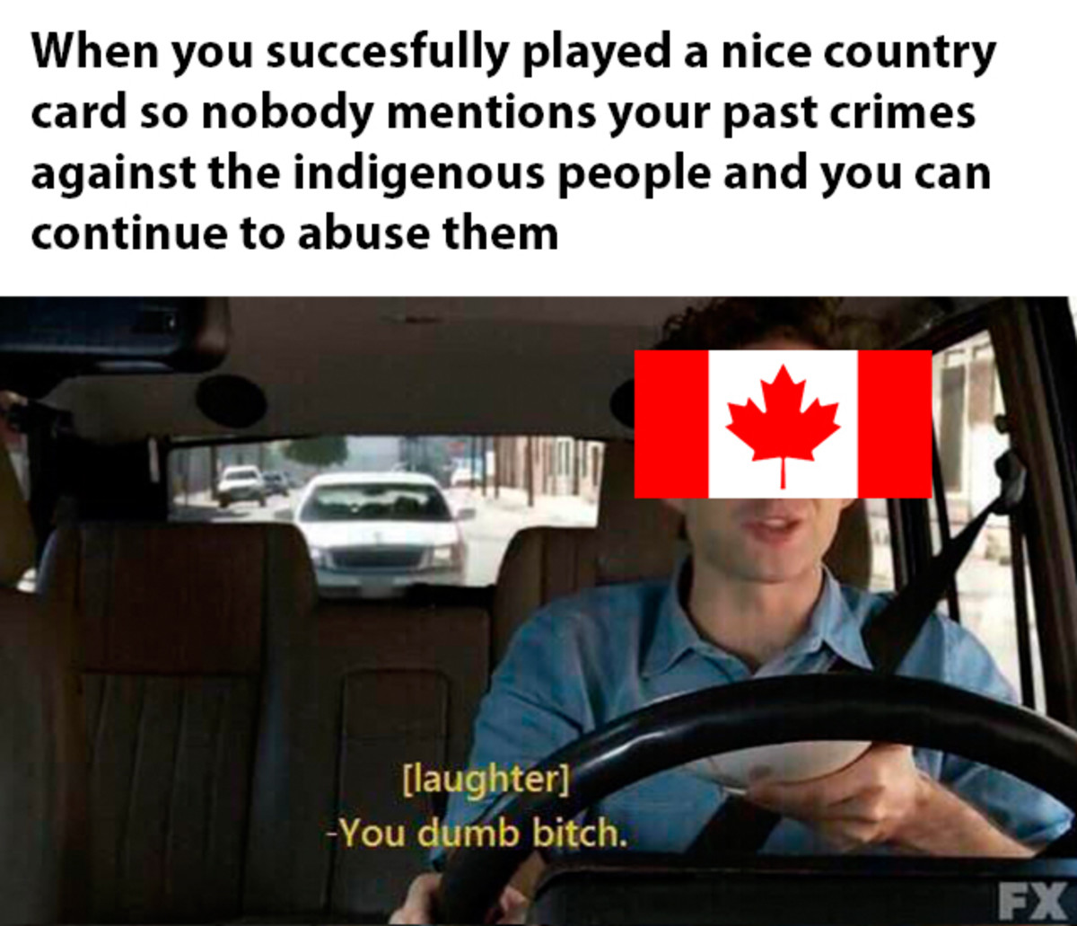Proud of ya, Canada. .. We do like to cover things up and then point fingers at other countries like the US. Not far from where I live as recently as the 1950's a native man was lynche