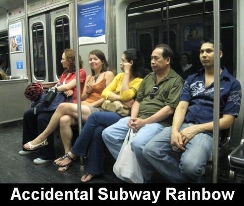 Rainbow Subway. This subway just got 20% cooler. You know who else just got 20% cooler? All the people who helped get this to the front page! Sorry that indigo
