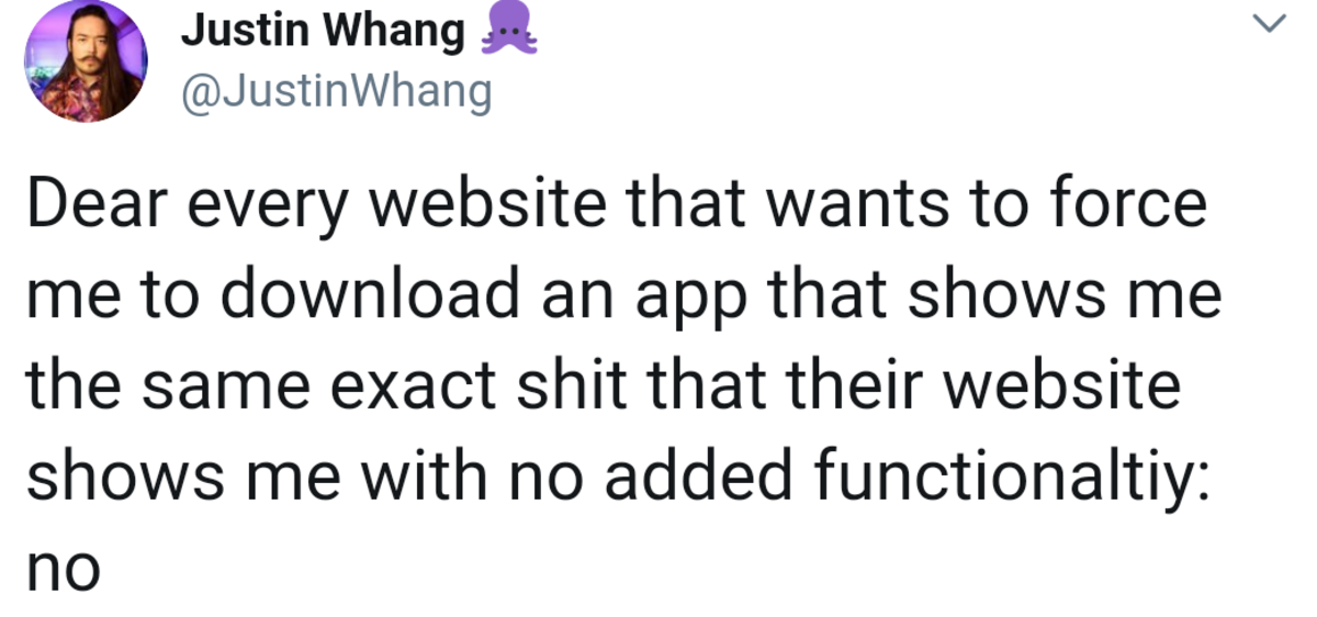 Reddit on mobile in a nutshell. .. reddit. No, I will not download your stupid app to use it once a week when a google search I make leads me there.