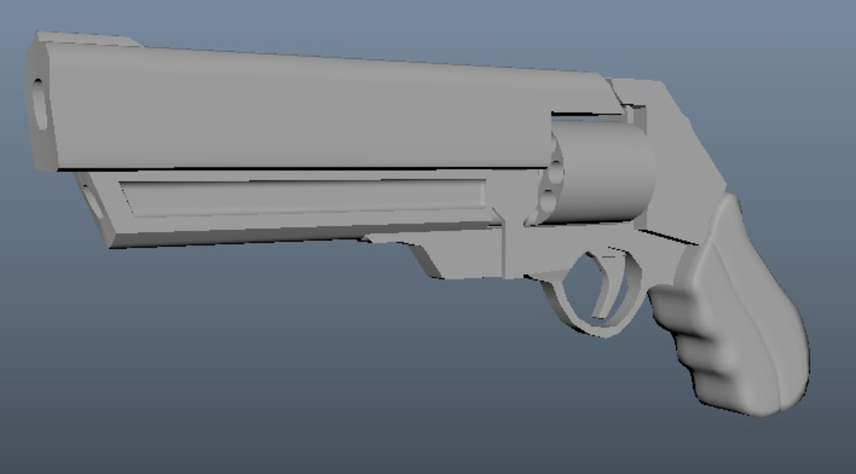 Re:Pulsis Weapon Model - Revolver!. Some weapon model progress with the Reulsis video game project (plus first ever content, finally from years of creepin')!.. The barrel doesn't even line up