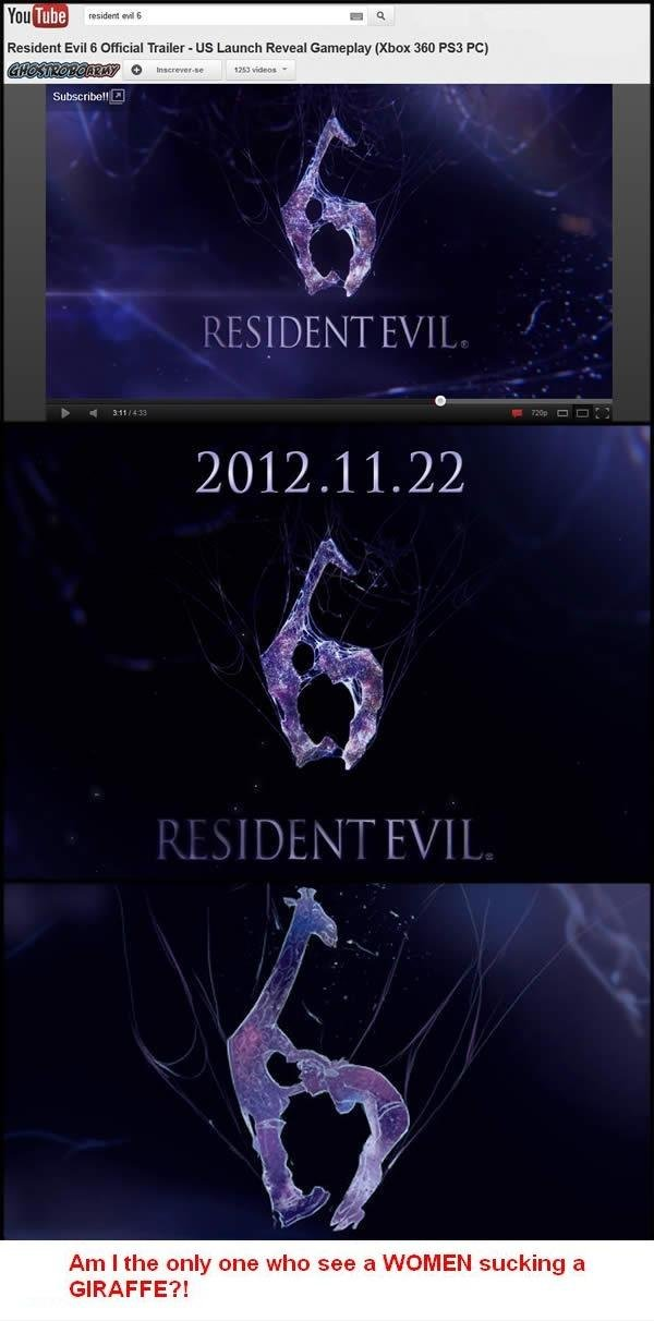 Resident Evil 6 Giraffes?. . Am I the only one win: 'iai, =' !h' WOMEN sucking h'. Holy , can't be unseen!