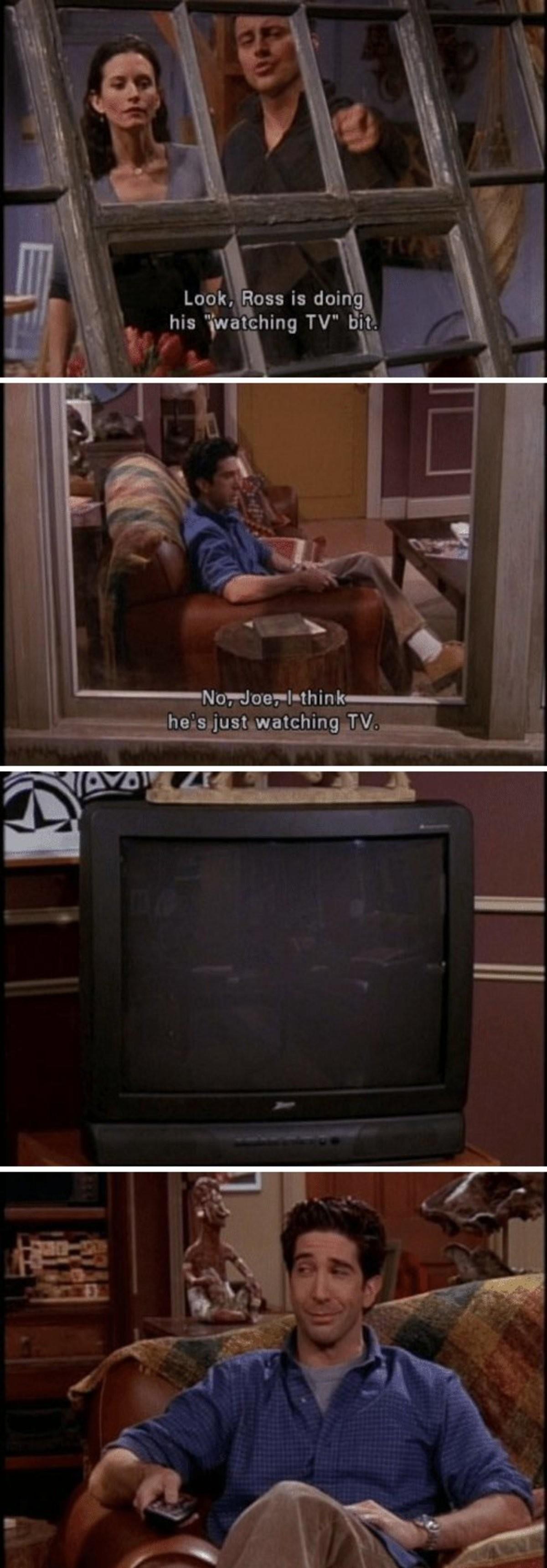 Ross. .. He's fallen so far