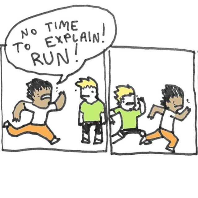 run. .. Exercise is good