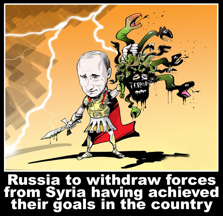 Russia to withdraw forces from Syria. . yrii. That or he's wasted so much money on an unpopular regime that's on its final breath.