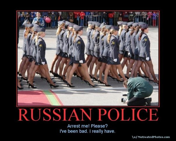 Russian Police!. . Arrest me! Please'? We been bad, I really have.. >Corned by sexy women >They are Russian police >mfw