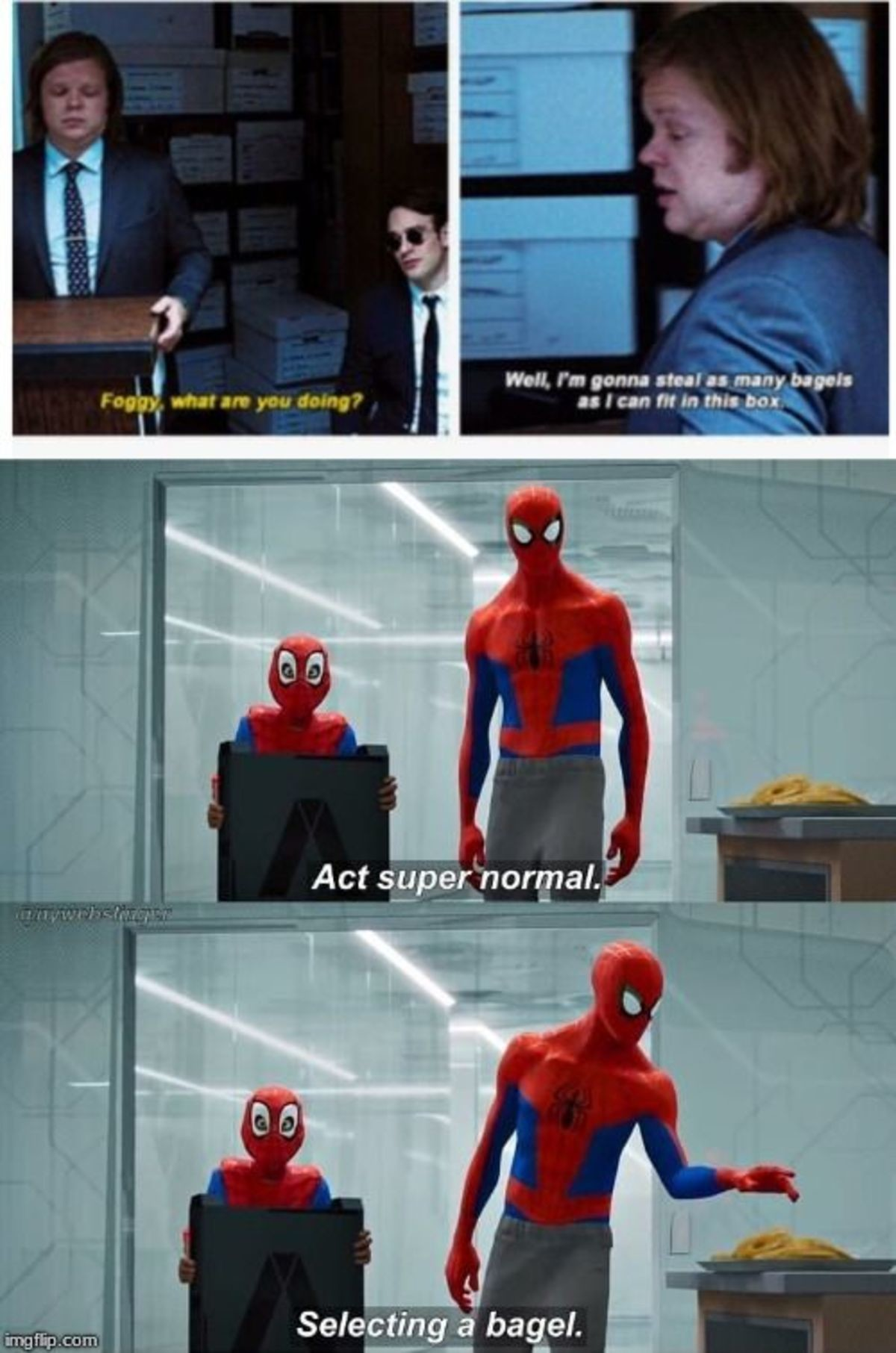 Same Energy. .. When you are trapped in a supervillains base but they have bagels