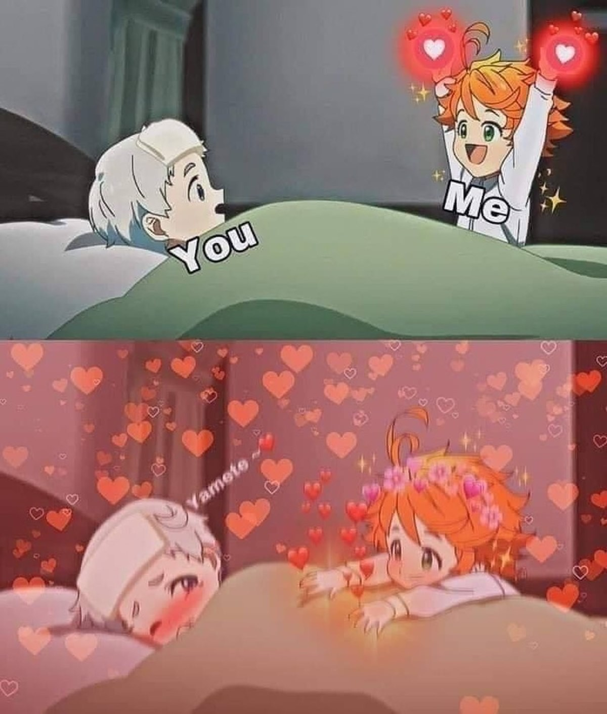 Sauce: The Promised Neverland. .. Pledge alliance to our overlord Phil or perish like a dog.