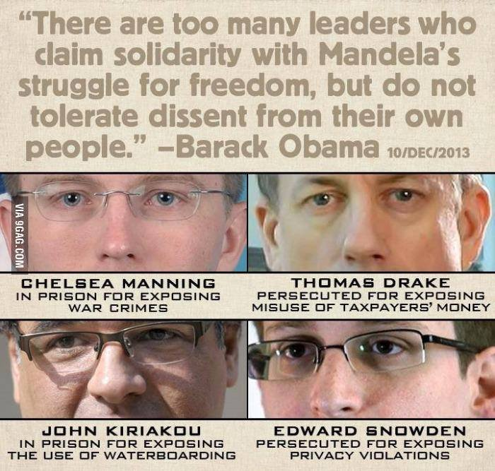 "Scumbag Obama. . There are too many leaders who claim solidarity with ' s struggle for freedom, but do not tolerate dissent from their own people"" -Barack Obama"
