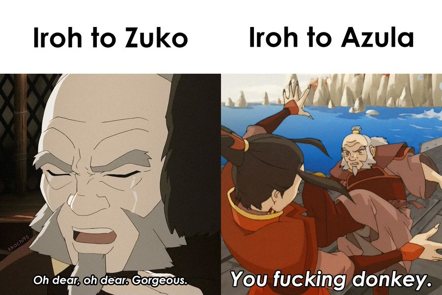 """""""She's crazy and needs to go down."""". .. Azula stuff always hits me hard. I knew a girl long time ago that had kinda similar family situation. Besides warmongering and murders and such of course. She h"""