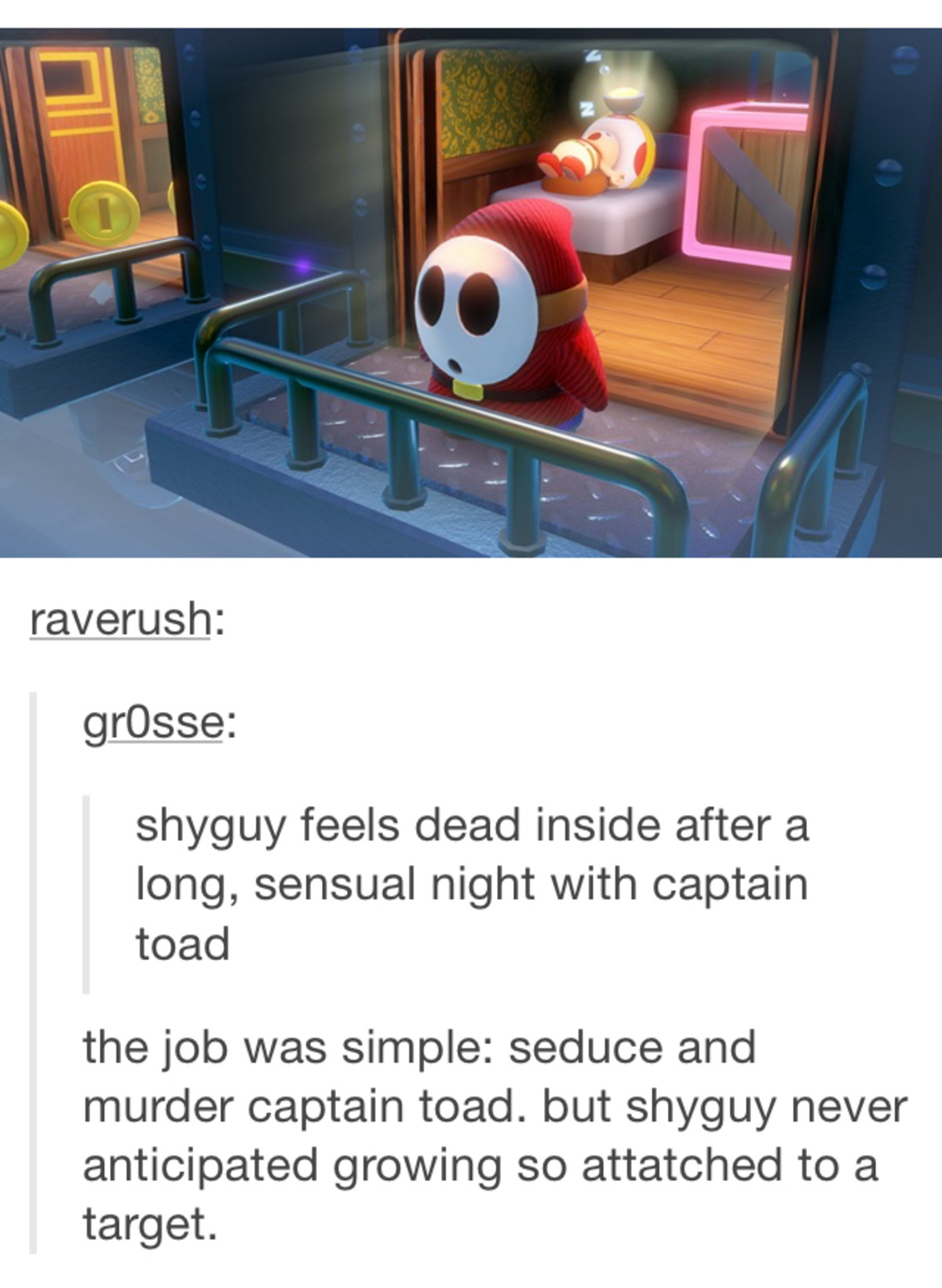 Shy Guy. .. He is longing for his true love.