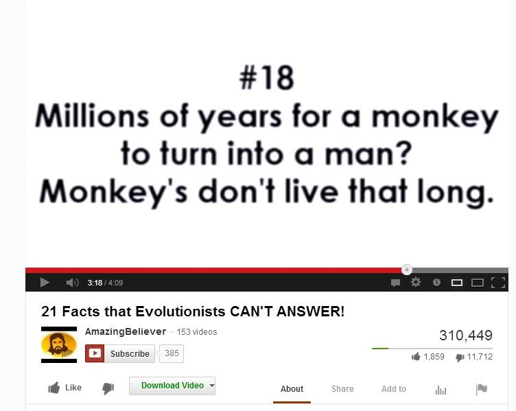 Silly Evolutionists
