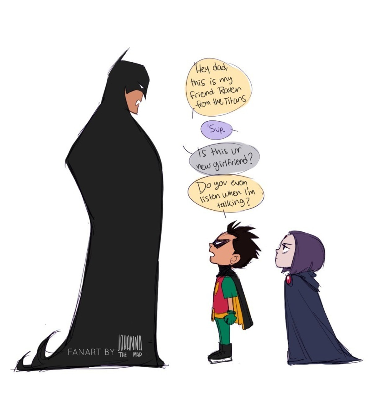 smol birb. .. Batman just gave her his Dick.