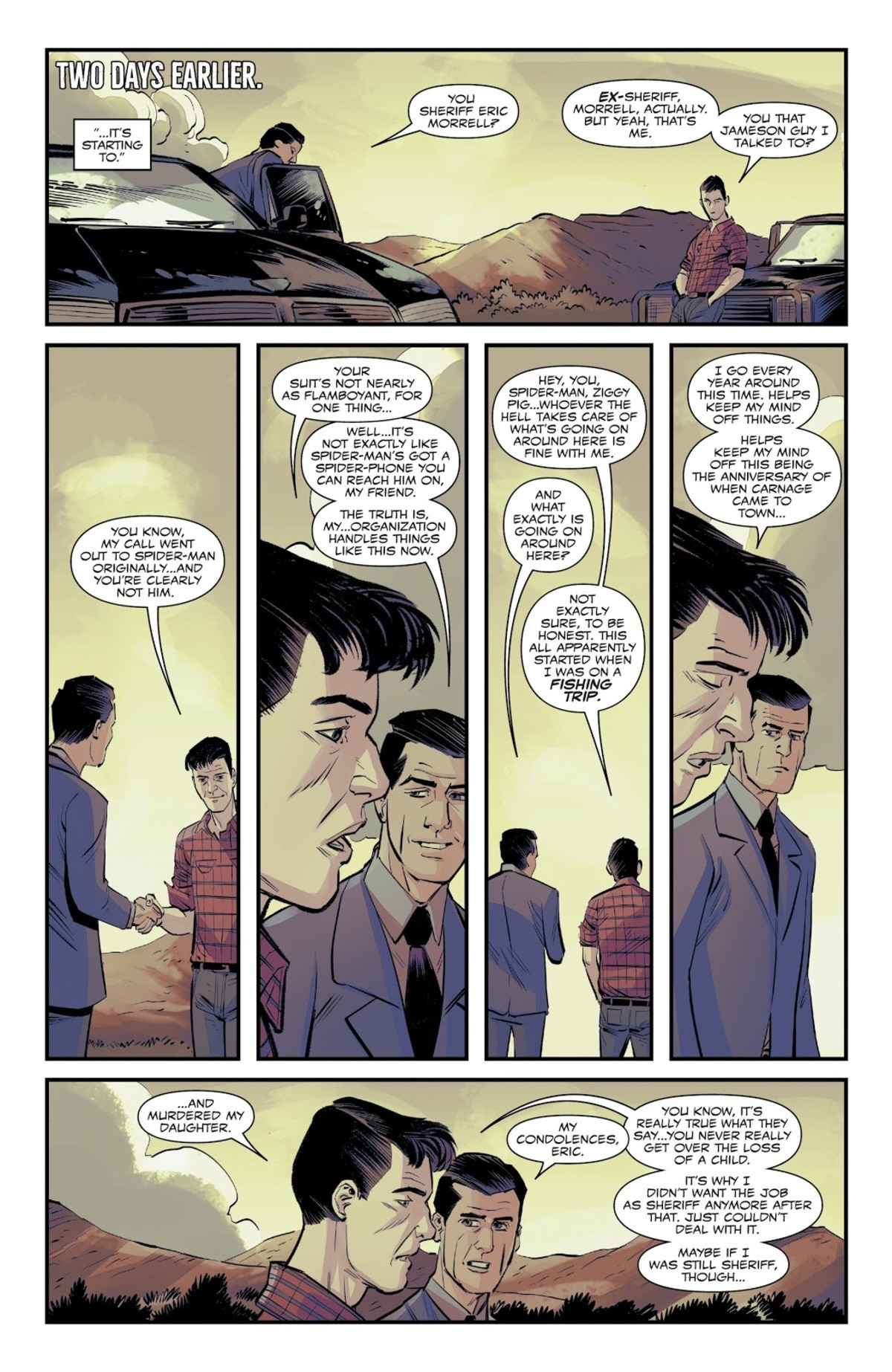So dark! You sure this isn't from the DC universe?. Everyone's favorite son of J. Jonah Jameson seems to be a main character in this story. Though Marvel did go