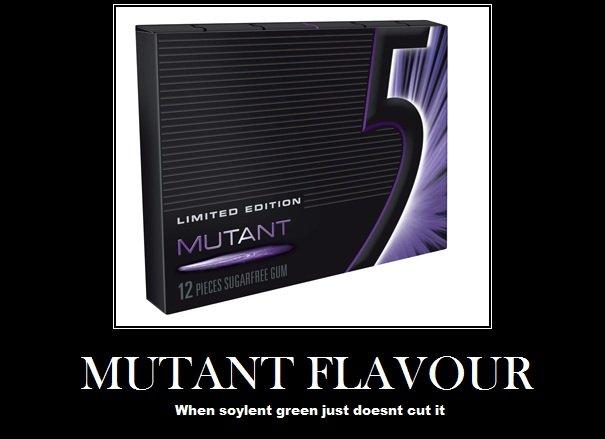 Soylent purple. . When soylent green just diesnt cut it. i love five