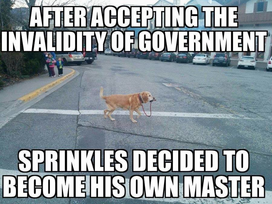 Sprinkles. What Sprinkles didn't realize, is that the government has a monopoly on can-openers.. at I av I haf