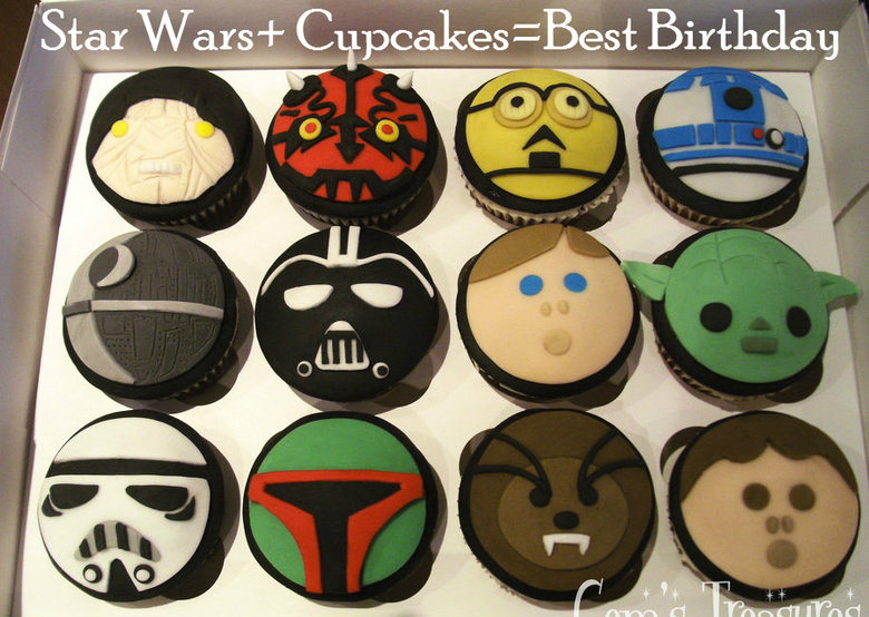 Star Wars Cupcakes. Best freaking cupcakes. Which ones are your favorite?. iri: Birthday. one of those cupcakes is too chewy