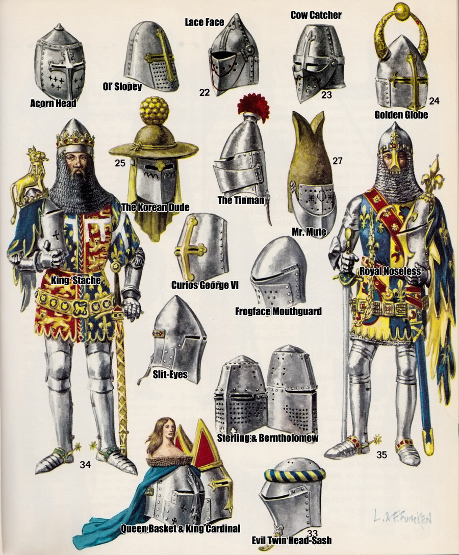 """Strange Medieval Helmets and Armors. The Monkey Picture Day Bernard and Butthead and I call this picture: """"He is making that face again isn't he?"""" The"""