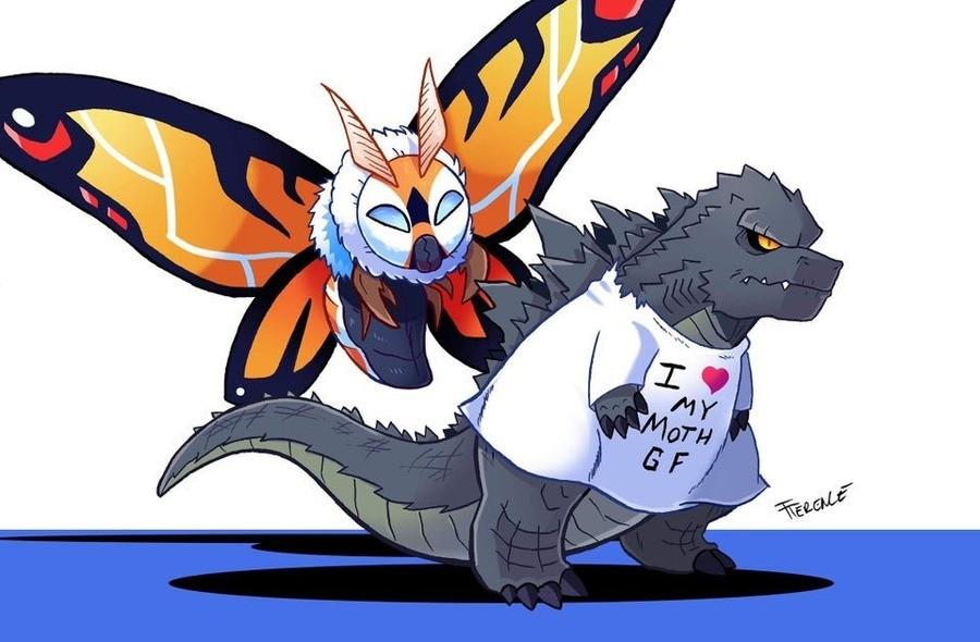stupid shirt. .. You ever notice her wings sorta look like godzillas eyes?