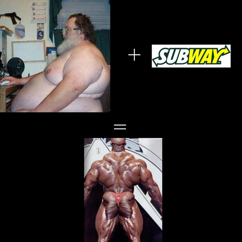 SUBWAY DIET. .. his arse looks like a butterfly