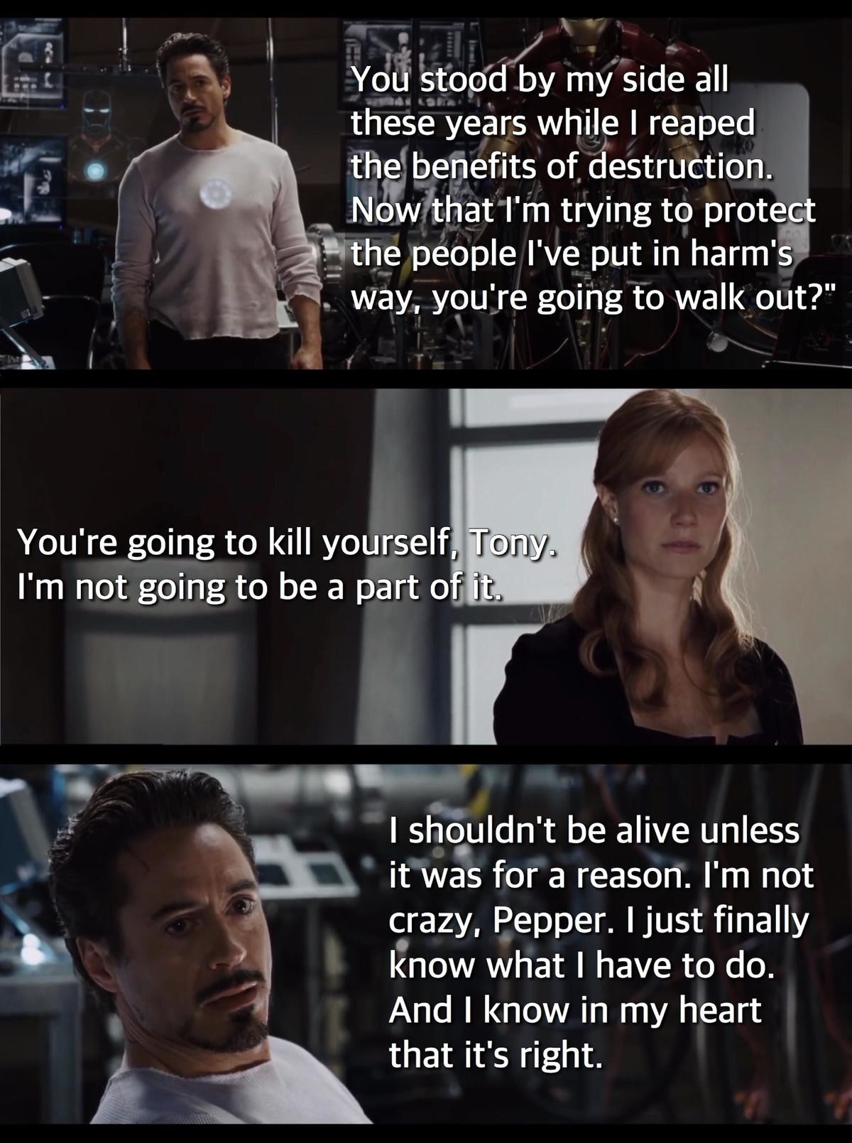 succinct peaceful delicious Chimpanzee. .. Tony Stark does have a heart. A sassy, alchoholic heart Comment edited at .