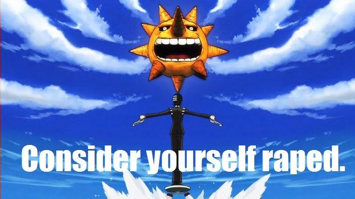 Sun doth Rape. SOUL EATER!!!!!!!!.. symmetric rape is the best rape