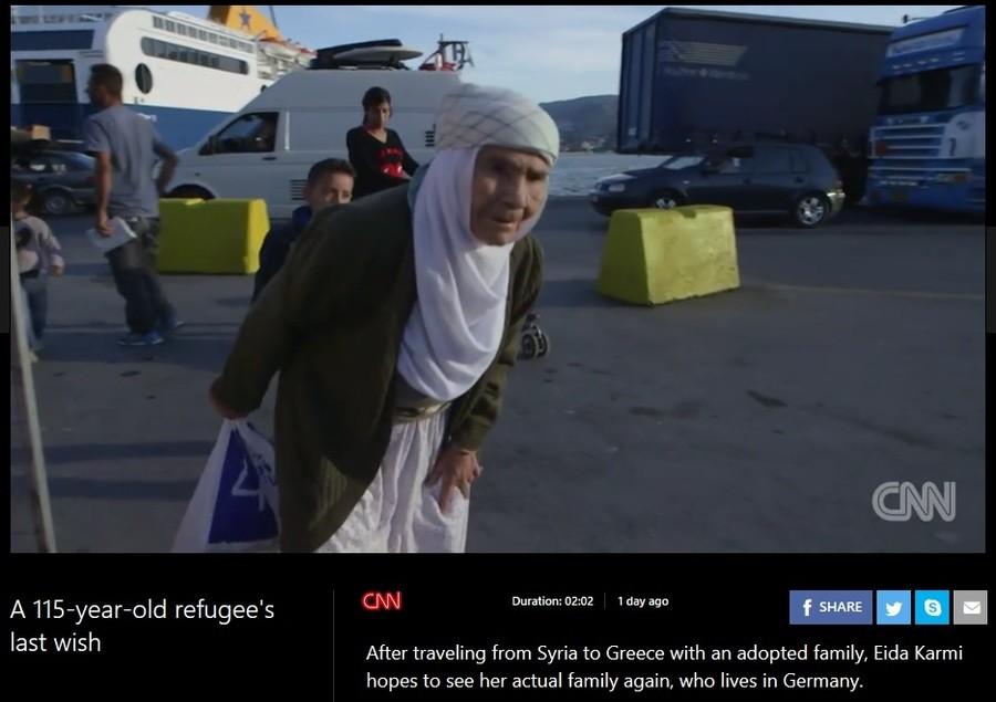 Sweet old granny. http://www.msn.com/en-us/video/peopleandplaces/a-115-year-old-refugees-last-wish/vi-AAiWkBf?ocid=spartandhp. ist w- iaj);( ciivil] last wish A