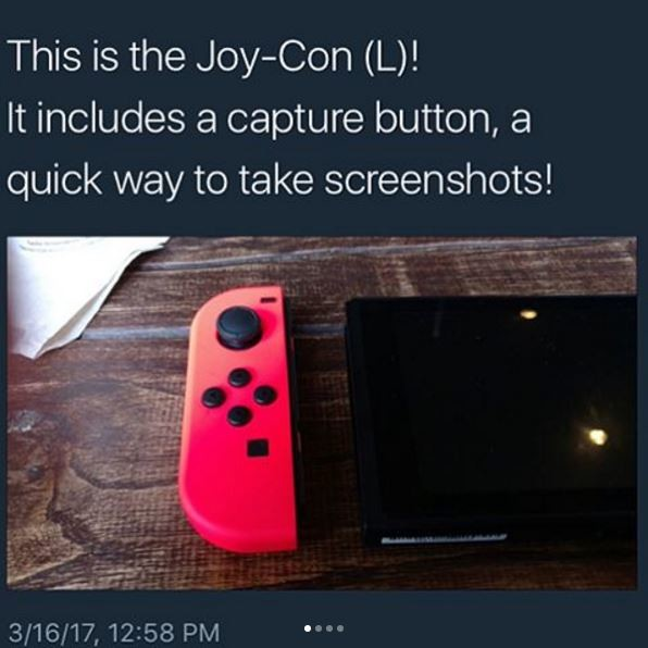 Switch. . This is the (L)! It includes a capture button, at quick way to take screenshots!. This is by far the best lost edit I've seen in some time you degenerate