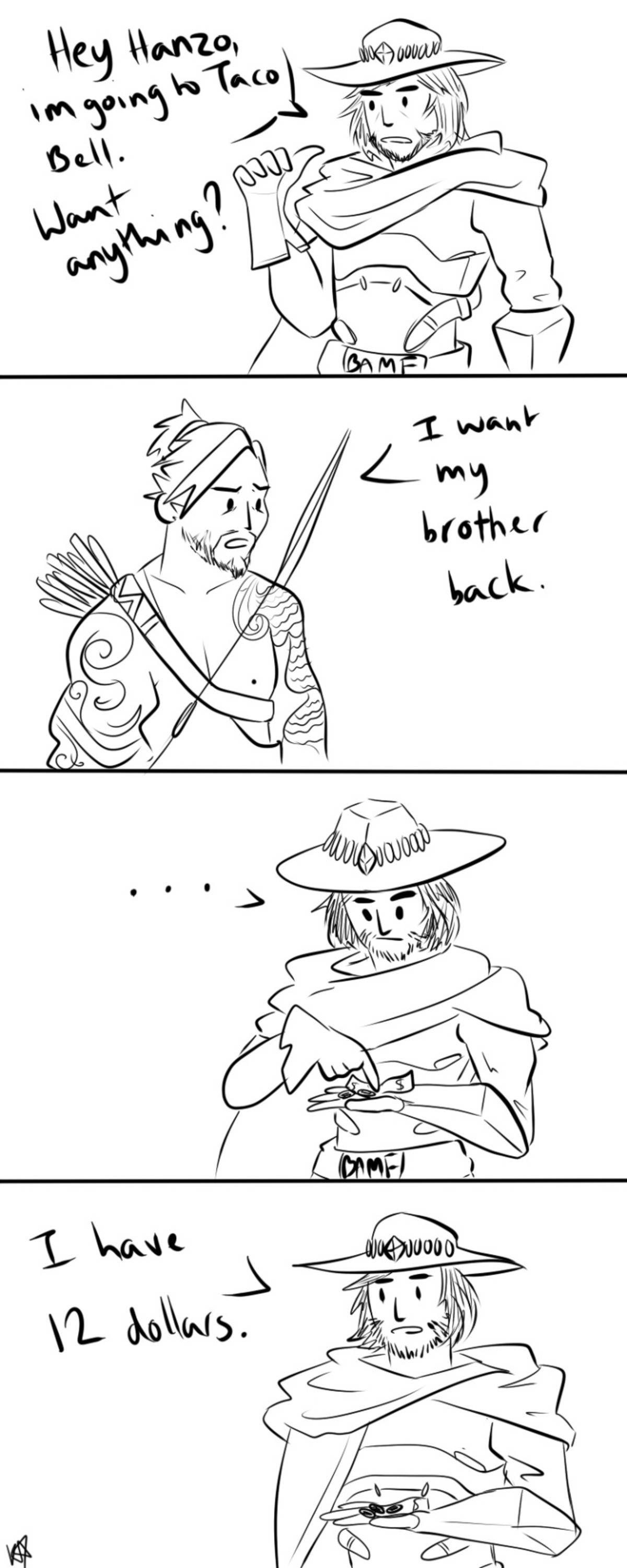 Taco Bell. join list: OverwatchStuff (1454 subs)Mention Clicks: 339898Msgs Sent: 2908422Mention History First OverwatchStuff Last .. Jesse's bounty hunting doesn't bring in much money So he gets a job as a McCreal Estate Agent