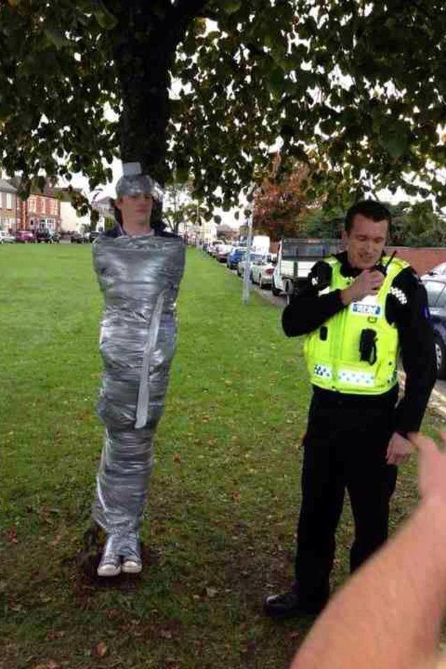 The that happens in Britain. This is what our police force has to deal with.. BANTERRRRRRRRRR