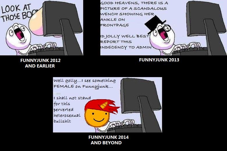 The Death of Funnyjunk. slowly but surely, FJ is dying...as the site and those that 'manage' it engineer removing all things attractive to grown up members and